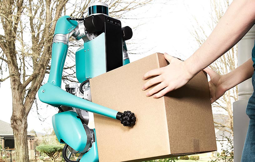 تحویل بسته های پستی با ربات دیجیت 2