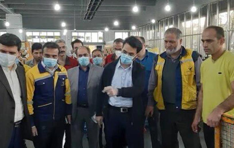 بازدید سرزده وزیر ارتباطات از مرکز پست لشگر در تهران